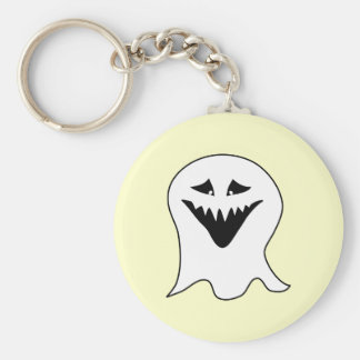Ghoul. Black and White. Basic Round Button Key Ring
