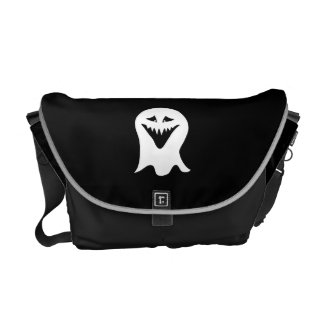 Ghoul Ghost Black and White Courier Bags