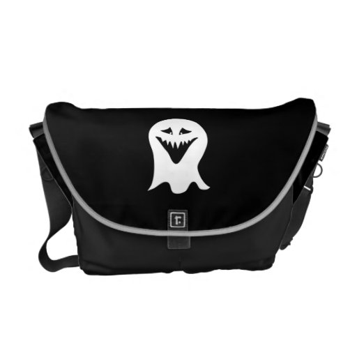 Ghoul Ghost. Black and White. Courier Bags