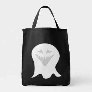 Ghoul Ghost. Gray and White. Canvas Bags