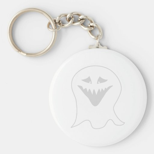 Ghoul Ghost. Gray and White. Keychains