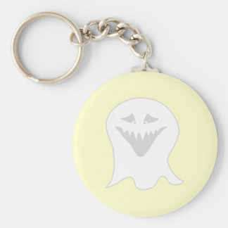 Ghoul Ghost Gray and White Keychain