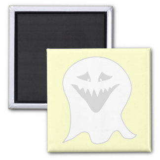 Ghoul Ghost Gray and White Refrigerator Magnet