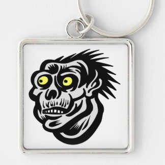 Ghoul Silver-Colored Square Key Ring
