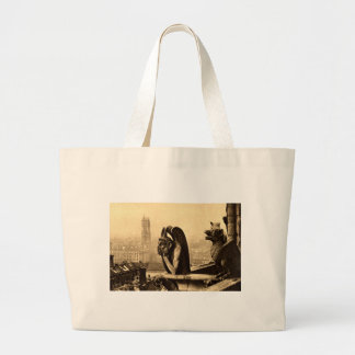 Ghoul Notre Dame Paris France 1912 Vintage Tote Bags