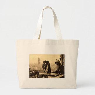 Ghoul Notre Dame, Paris France 1912 Vintage Jumbo Tote Bag