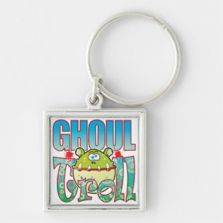 Ghoul Troll Silver-Colored Square Key Ring