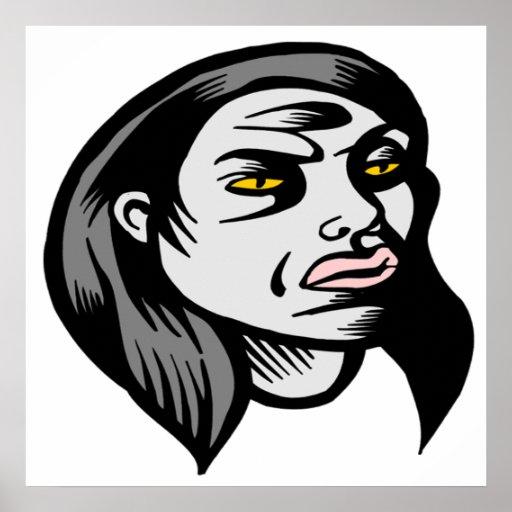 Ghoul Woman Print