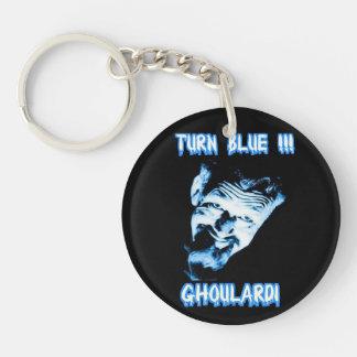 Ghoulardi (Turn Blue) Double-Sided Acrylic Circle Keychain