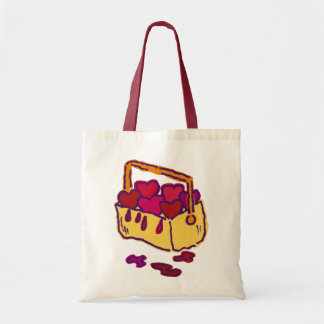 Ghoulie's bucket of hearts tote bag