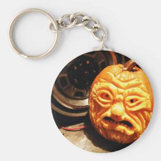Ghoulish Gourd IV Basic Round Button Key Ring