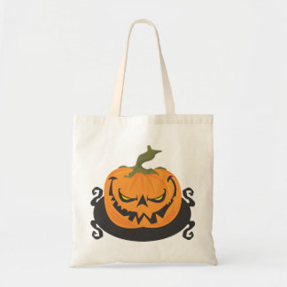 Ghoulish Pumpkin Tote Bag