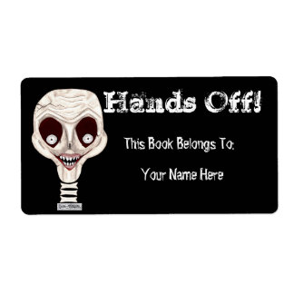 Ghoulish Skull Bookplate Shipping Label