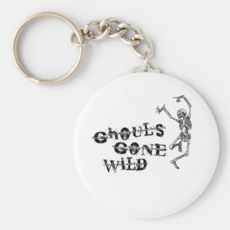 Ghouls Gone Wild Basic Round Button Key Ring