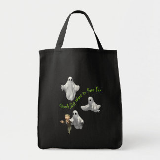 Ghouls just want to have fun! canvas bags