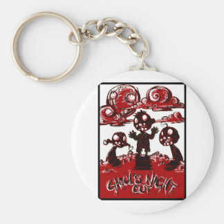 Ghouls Night Out Basic Round Button Key Ring