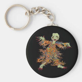 ghouly ghost key ring basic round button key ring