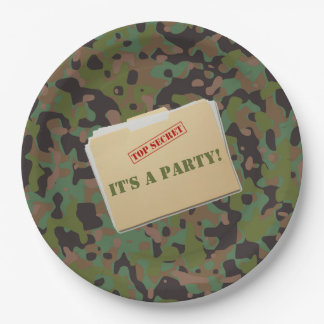 GI Camouflage Top Secret Soldier Party Plates