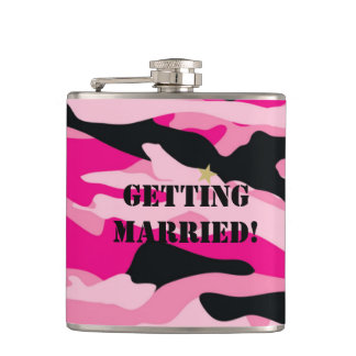 GI JANE Military Camouflage Wrapped Flask