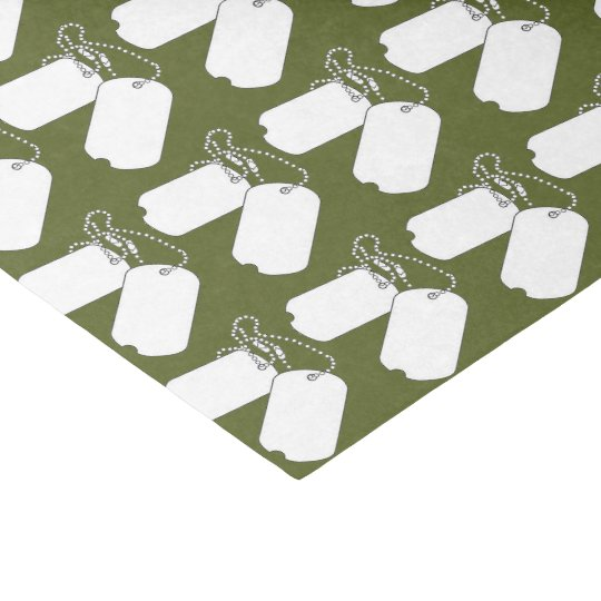 GI JOE Camouflage Party Dog-Tags Tissue Paper