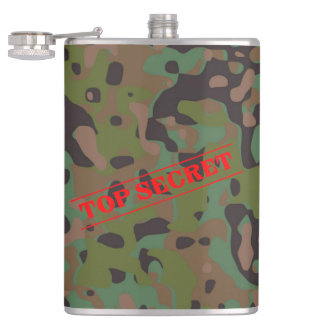 GI Top Secret Camouflage  Party Flask
