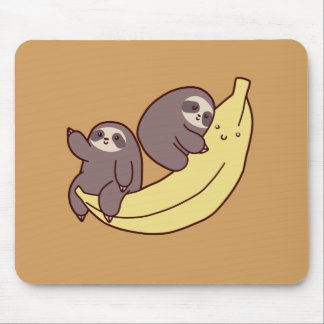 Giant Banana Sloths Mouse Pad