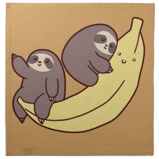 Giant Banana Sloths Napkin