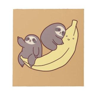 Giant Banana Sloths Notepad