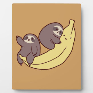 Giant Banana Sloths Plaque