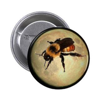 Giant Bee on the  Moon 6 Cm Round Badge
