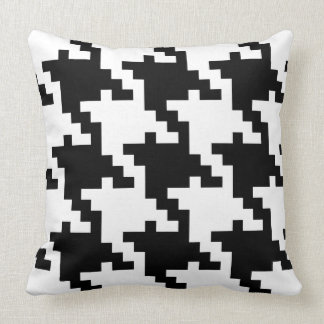 Giant black and white houndstooth throw pillow
