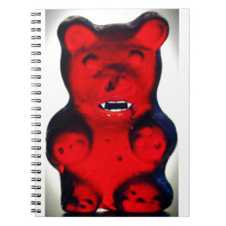 Giant Blood Sucking Candy Bear Notebooks