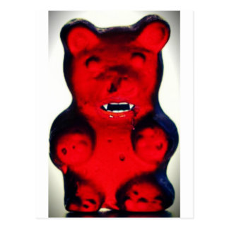 Giant Blood Sucking Candy Bear Postcard
