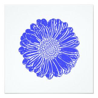 Giant Blue Gerbera Daisy Card