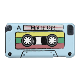 Giant Cartoon Hand Drawn Cassette Tape (Blue) iPod Touch (5th Generation) Cases