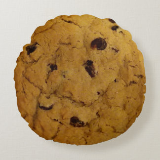 Giant Chocolate Chip Cookie Round Cushion
