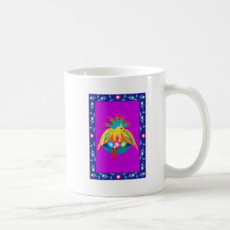 giant colorful bird coffee mugs