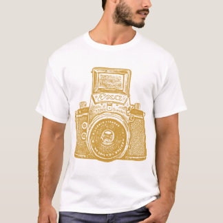 Giant East German Camera - Caramel Brown T-Shirt