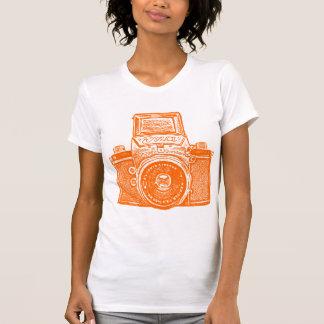 Giant East German Camera - Orange T Shirt