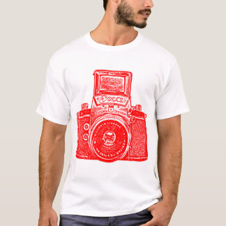 Giant East German Camera - Red and White T-Shirt