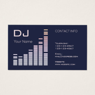 Giant equalizer template pattern business card