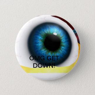 giant eyeball 6 cm round badge