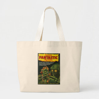 Giant Green Ghoul Large Tote Bag