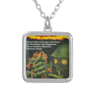 Giant Green Ghoul Silver Plated Necklace