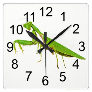 Giant Green Praying Mantis Wall Clock
