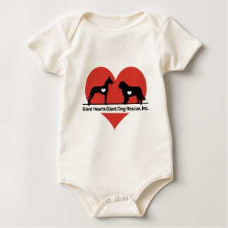Giant Hearts Giant Dog Rescue Logo Baby Bodysuit
