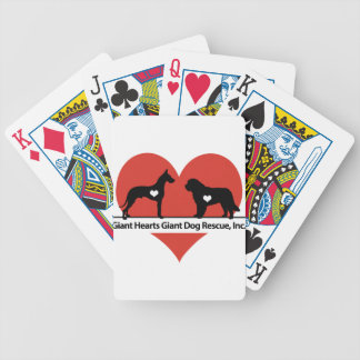 Giant Hearts Giant Dog Rescue Logo Bicycle Playing Cards