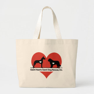 Giant Hearts Giant Dog Rescue Logo Large Tote Bag