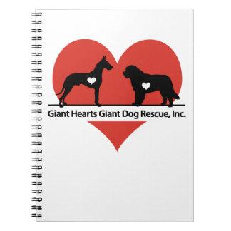 Giant Hearts Giant Dog Rescue Logo Notebook