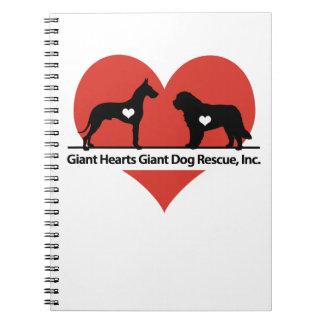 Giant Hearts Giant Dog Rescue Logo Notebooks